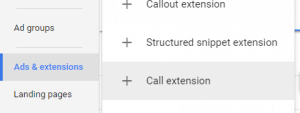 AdWords Dental Call Extension