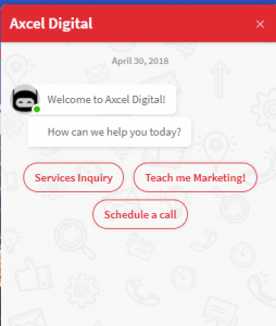Axcel Digital Chatbot Options