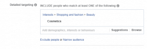 Facebook Detailed Targeting