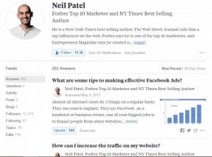 Neil Patel Quora