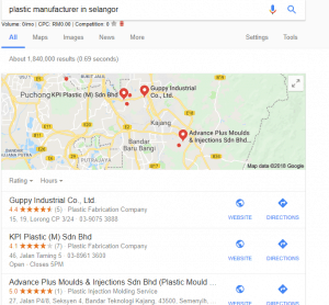 local seo 3 pack example